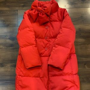 Kate Spade down coat red bow size M